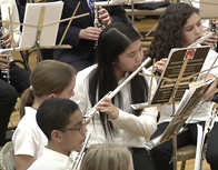 Students playing the flute